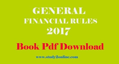 General Financial Rules 2017 Book Pdf Free Download