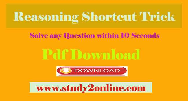 Reasoning Shortcut Tricks By Ramandeep Singh Sir