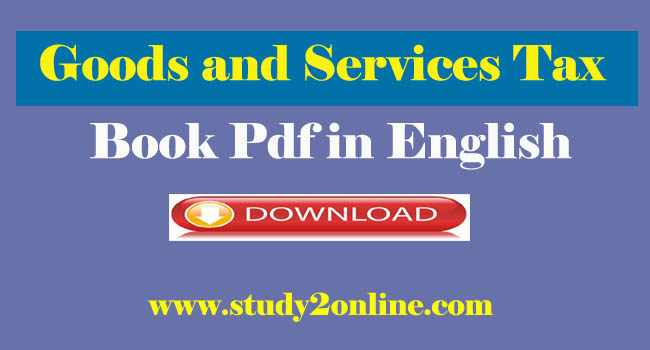 Goods and Services Tax Book Pdf in English