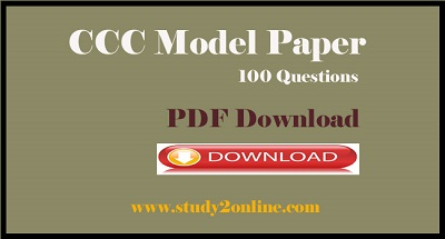 CCC Model Paper Pdf Download for CCC Online Exam