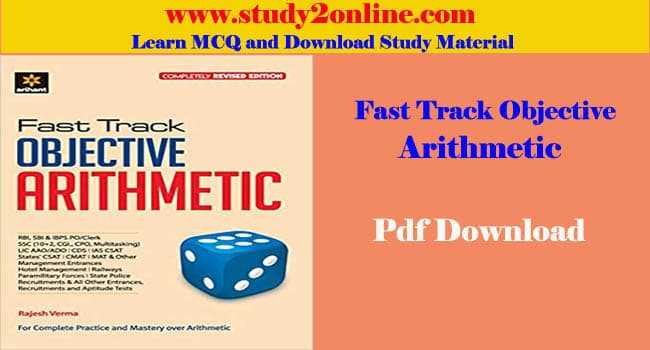 Arihant Fast Track Objective Arithmetic Book Pdf Download